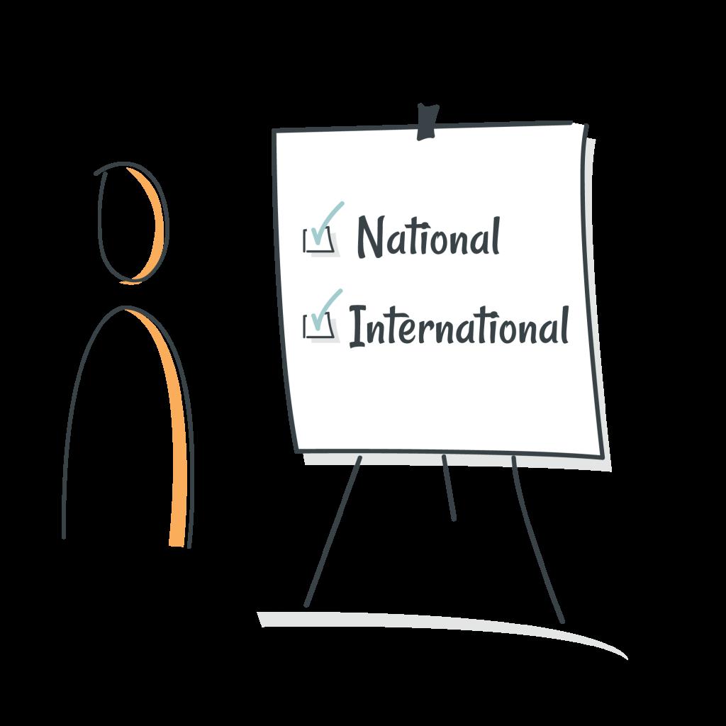 Diagram National & International